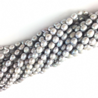 Rice Freshwater Pearl Beads 8-9 Lt Grey